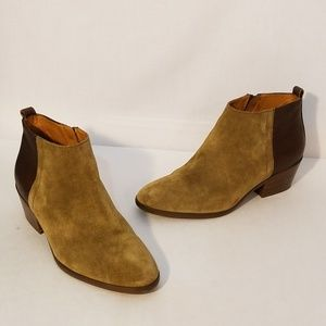 Madewell Cait Suede and Leather Ankle Boots